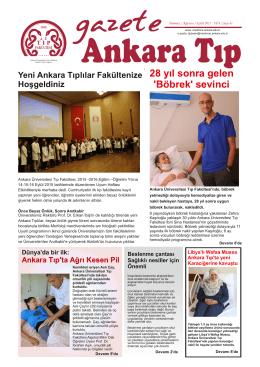 web gazete.cdr - Ankara Üniversitesi Tıp Fakültesi