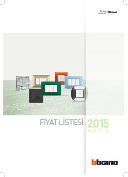 FİYAT LİSTESİ 2015 - Tesis Otomasyon Elektrik Endüstriyel