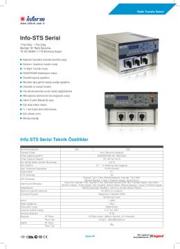 Info-STS Serisi