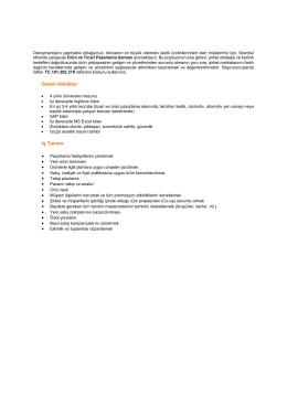 Genel nitelikler: İş Tanımı: