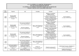 i. ü. ulaştırma ve lojistik yüksekokulu 2014