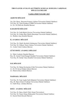 Yazılı Jüri Üyeleri