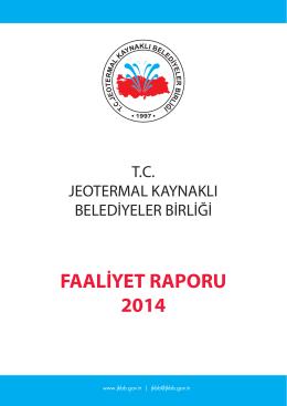 FAALİYET RAPORU 2014