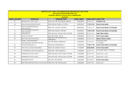 2014-2015 Eğitim Öğretim Yılı Bahar Dönemi Final Sınav Programı