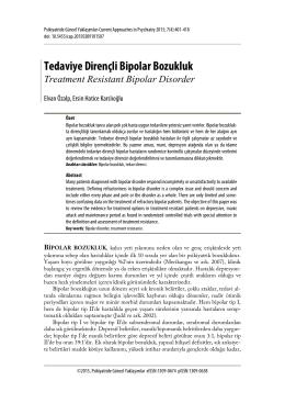 Tedaviye Dirençli Bipolar Bozukluk-Treatment Resistant