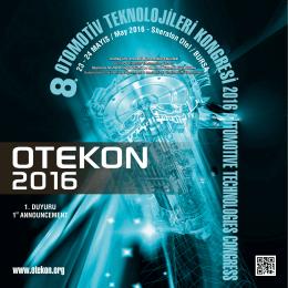 1. duyuru - Otekon 2016