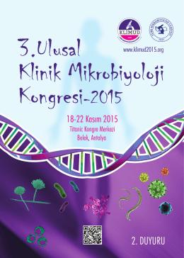 kongre bilimsel kurulu - 3. Ulusal Klinik Mikrobiyoloji Kongresi 2015