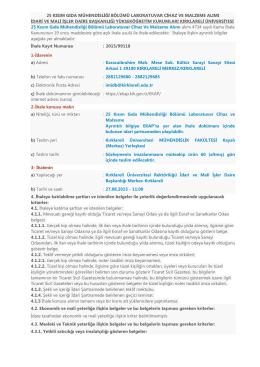25 kısım gıda mühendisliği bölümü laboratuvar cihaz - KLU