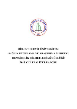 SAYı - Bülent Ecevit Üniversitesi Sağlık Uygulama ve Araştırma