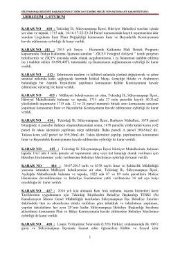 7 Ekim 2015 Tarihli Meclis Kararı