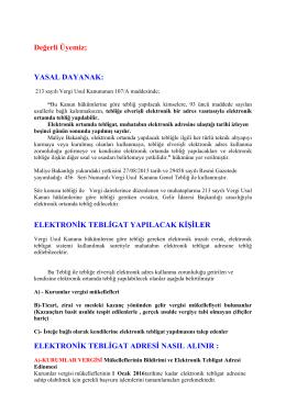 ELEKTRONİK TEBLİGAT ADRESİ NASIL ALINIR