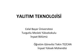 Cam yünü - Celal Bayar Üniversitesi