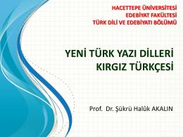 yeni türk yazı dilleri kırgız türkçesi