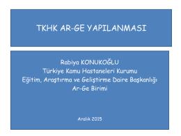 PowerPoint Sunusu - İzmir Kuzey Kamu Hastaneleri Genel