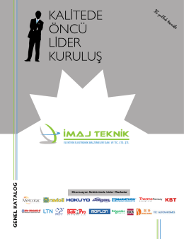 Dijital Katalog - İmaj Teknik Elektrik Elektronik Malz. San. Tic. Ltd. Şti.