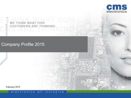Company Profile - CMS electronics GmbH