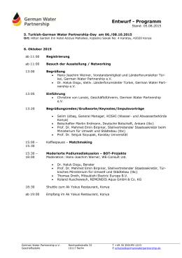 Entwurf - Programm - German Water Partnership
