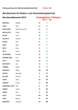 EVT 1 Klassen 2015