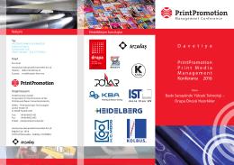 PrintPromotion Management 2016 Konferansı ve drupa 2016 Tanıtımı