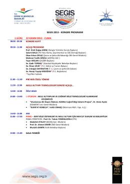 kongre programı 1.gün) 22 kasım 2013 - cuma