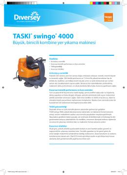 Swingo_4000 - DIVERSEY / Taski Teknik Servis