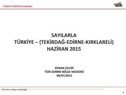 2015 TUİK Bölge Raporu