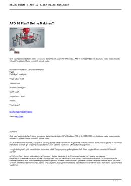 DELİK DELME : AFD 10 Flanş Delme Makinası