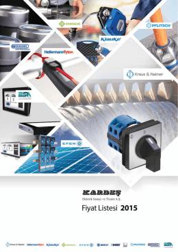 Kardeş Elektrik Subat 2015 Fiyat Listesi