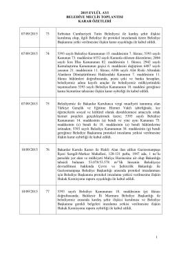 Eyluel Ayı Meclis Karar Oezetleri
