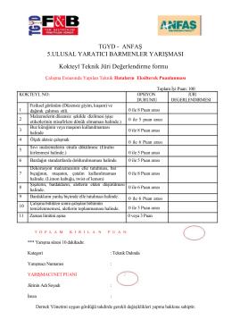 5.kokteyl yarışması-teknik jüri değerlendirme kriterleri