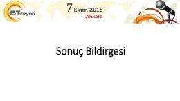 Ankara Sonuç Bildirgesi için Tıklayınız