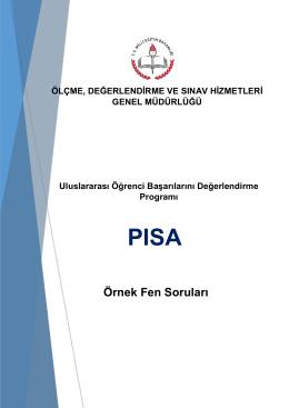 Örnek Fen Soruları - PISA Türkiye