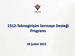 1512-Girişimcilik Aşamalı Destek Programı