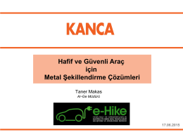 Hafif ve Güvenli Araç için Metal Şekillendirme Çözümleri - E-Hike