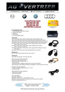 OBD-Interface + 4 Kabel mit Preis (Türkisch).cdr