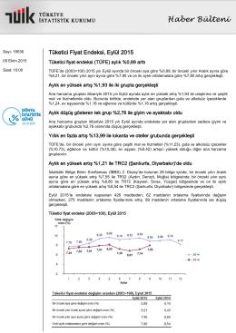 Tüketici Fiyat Endeksi-(Eylül 2015-05.10.2015)