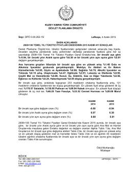 Kasım - KKTC Devlet Planlama Örgütü