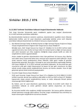 Sirküler 2015 / 076