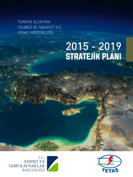 stratejik plan - TETAŞ | Türkiye Elektrik Ticaret ve Taahhüt A.Ş.