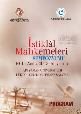 sempozyum programı - Atatürk Araştırma Merkezi