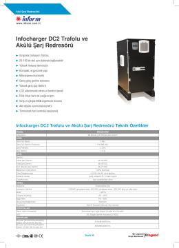 Infocharger DC2 Trafolu ve Akülü Şarj Redresörü