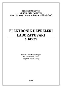 Lab Deney-3 Föy - Düzce Üniversitesi Elektrik