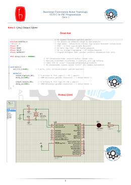 1 Konu 1 : Çıkış ( Output ) İşlemi Örnek Kod Proteus Çizimi