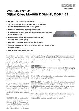 VARIODYN® D1 Dijital Çıkış Modülü DOM4-8