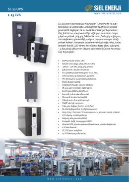 SL 11 UPS (1-15 kVA) 1 faz giriş/1 faz çıkış