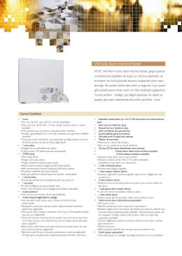 VAP-404 Alarm Kontrol Paneli