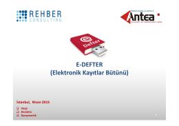 E-DEFTER (Elektronik Kayıtlar Bütünü)