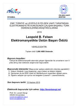 Leopold B. Felsen Elektromanyetikte Üstün