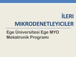 LCD Göstergeler - Ege MYO-İZKA