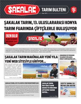 Şakalak Mart 2015 Tarım Bülteni
